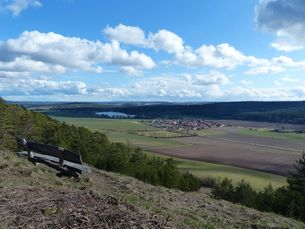 Blick auf den Stausee Hohenfelden