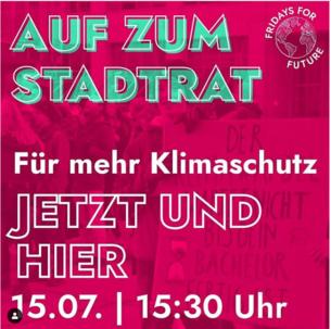 Fridays for Future Demo für mehr Klimaschutz in Jena